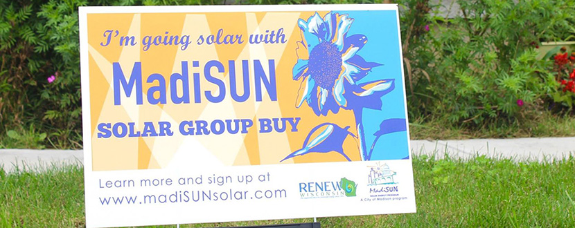 Madison Group Buy sign in yard