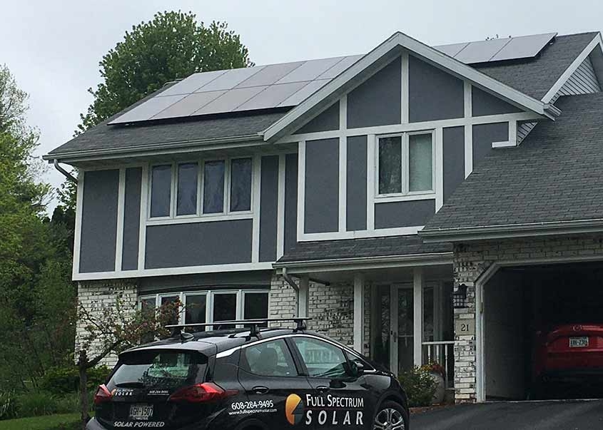 home with solar Madison---5.18kW