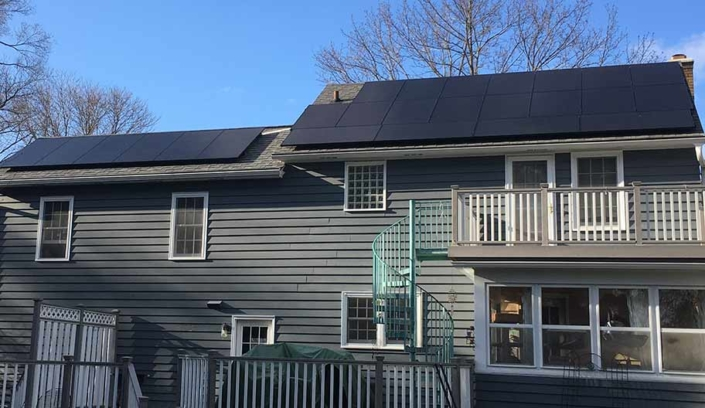 home with solar Middleton---8.2kW