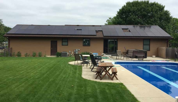home with solar Waunakee---16.74